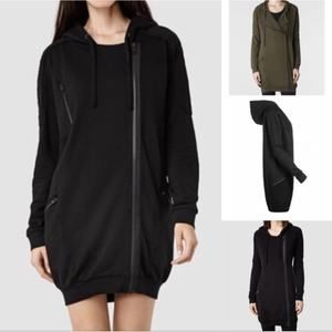 Allsaints oversized zip up hoodie sweatshirt